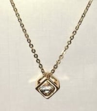 Costume Gold Cube Pendant and Chain Edmonton, T5T 6W6
