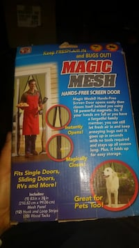 Magic Mesh Hand-Free screen door box Rancho Cucamonga, 91730