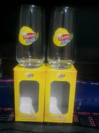 iki Lipton IceTe clear glass cups