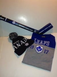 Toronto Maple Leafs Tshirt Toque and Mini Padded Hockey Stick  London