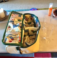 Insulated Wine Bag with the plastic wine glasses Alexandria, 22303