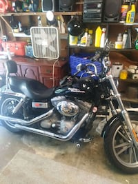 black and blue cruiser motorcycle Burke, 22015