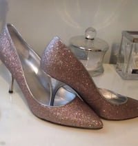 pair of Guess shoes glittered