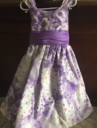 Purple and White Kids Dress  Kitchener