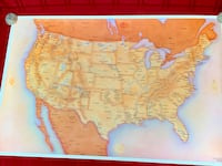 AMERICAN INDIAN COUNTRY Tribal Locations in America Wall Map POSTER