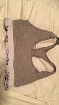 Grey Calvin Klein sports bra