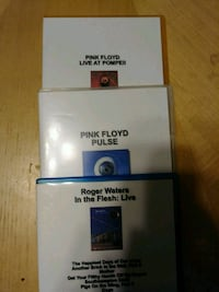 DVD Pink Floyd Concert DVDs 3 Pack Round Lake Beach, 60073