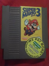 Nintendo Super Mario Bros. 3 game cartridge