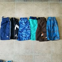 BOY size 6 ......  LOT 6 shorts  Laval, H7S 1L4