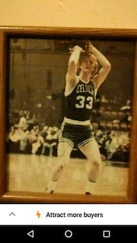 Larry Bird signed photo Oklahoma City, 73111