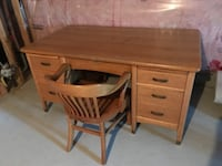 Krug solid oak desk and chair  MILTON