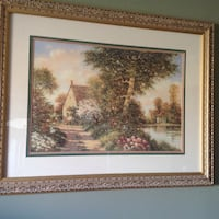 2 very large wood frame paintings  Montréal, H1E 4R1