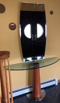 Entry table with umbrella holder New York