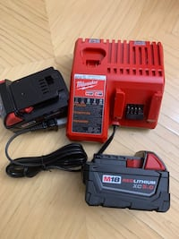 Milwaukee 2 batteries and charger 5.0 NEW Ronkonkoma, 11779