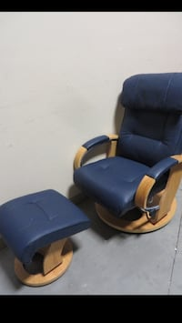 Brand New Leather Swivel Recliner With Ottoman