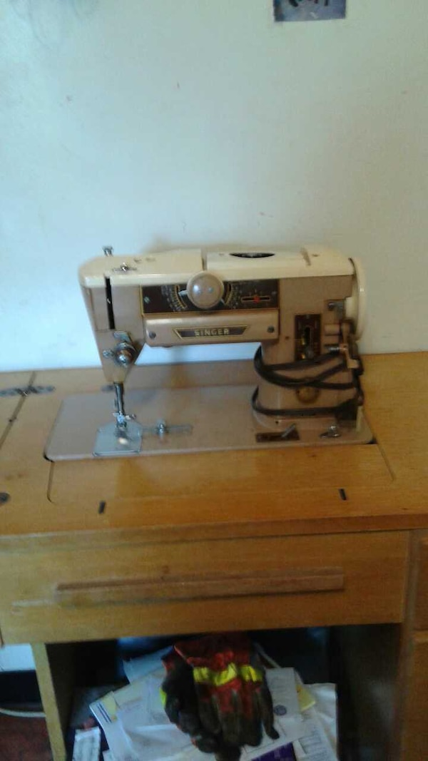 Used 40 Singer Sewingmachine In Blonde 40 Draw Cabinet For Sale In Inspiration 1950 Singer Sewing Machine