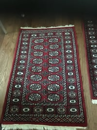 red, white, and black area rug Vaughan, L4H 3P6