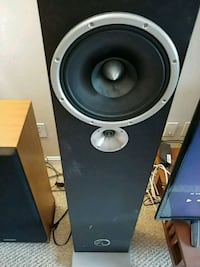 black and gray subwoofer speaker Oakton, 22124