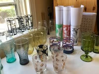 Vintage mid-century modern drinking glasses $3.00 each Cambridge, N1R 2T9
