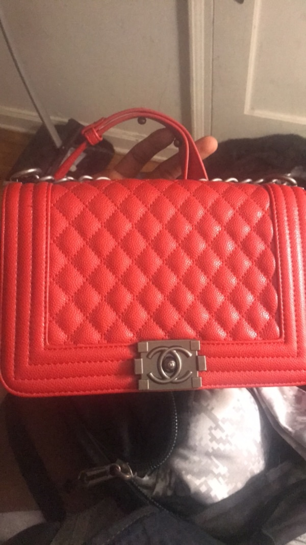 Used Chanel red crossover bag Retail  6 32aa1caf90160