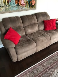 gray suede 3-seat sofa Richmond Hill, L4E 4K6