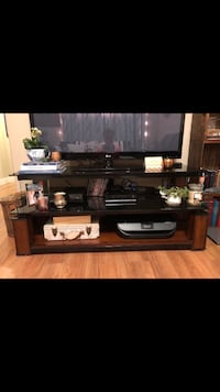 Modern Glass and Wood TV Stand Edmonton, T6R 0R6
