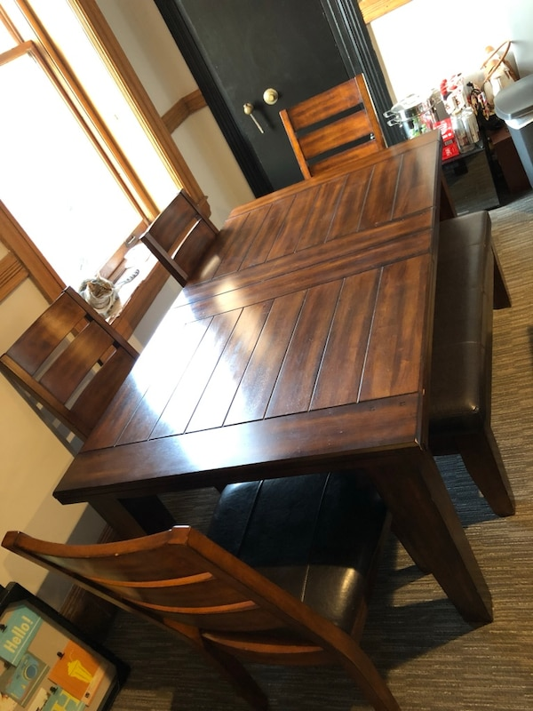 Wood Dining table set 6-piece
