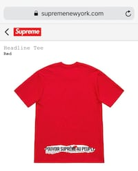 Supreme graphic tee shirts Silver Spring, 20902