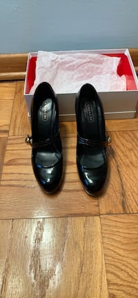 black Coach patent leather mary jane shoes with box Lanham, 20706