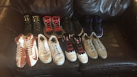Assorted athletic shoes collection