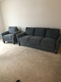 Small 3 seat couch with matching chair Columbia