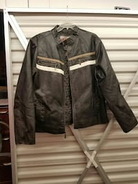 black leather zip-up jacket Metairie, 70001
