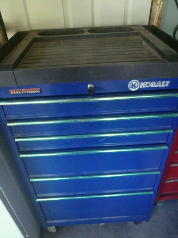 Kobalt Tool Cabinet >> Used Blue And Gray Kobalt Tool Cabinet For Sale In Dover Letgo