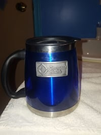 black, gray, and blue Covenant Health mug Edmonton, T5C 0S8