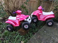 toddler's pink-and-white plastic ATV ride-on toys Burnaby