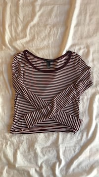 Long Sleeved Red Striped T-Shirt  Medford, 97504