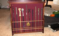 Harry Potter wand display with wands