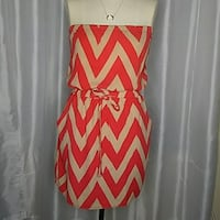 white and red chevron sleeveless dress Los Angeles