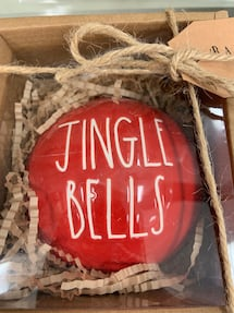 Rae Dunn Jingle Bells Christmas Ornament