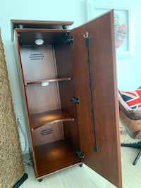 Wood armoire with Shelves