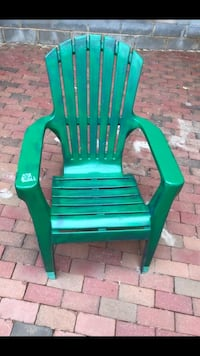 green wooden rocking chair with white pads Gaithersburg, 20879