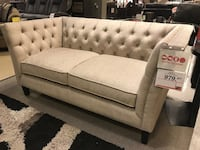 Tufted beige  fabric 2-seat sofa Delta, V3M