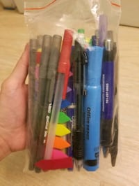 Variety of pens and markers