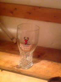 clear Alexander Keith's Fine Beers glass cup Ottawa, K4C 1K4