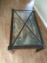 Wooden Coffee Table with Stone Tiles Las Vegas, 89149
