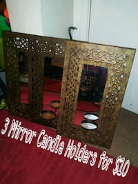 3 Mirror Candle Holders for $10 Fresno, 93705