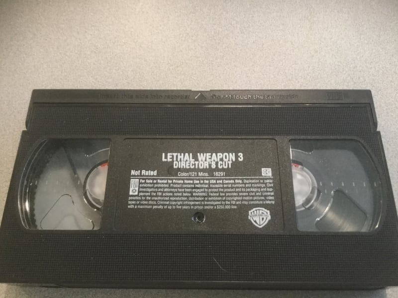 VHS Video Lethal Weapon 3 c589eeca-87ed-4ad9-8c0c-4badd4771e6f