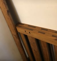 Brown wooden bed frame Fairview Park, 44126