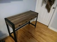 Table with finely finished wood