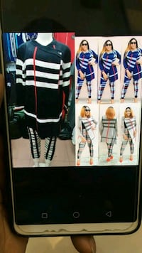 black and white striped long-sleeved dress collage Calgary, T2A 6V4